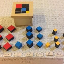 Ника собирает триномиальный куб